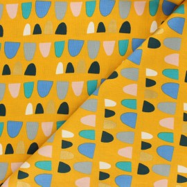 Cotton Steel cotton fabric Mountains, rocks, and pebbles - yellow Rolling hills x 10cm