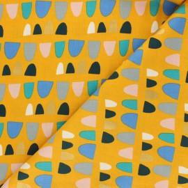 Tissu coton Cotton Steel Mountains, rocks, and pebbles - Rolling hills - jaune x 10cm