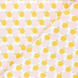 Cotton Steel cotton fabric Mountains, rocks, and pebbles - yellow Sweet pebbles x 10cm