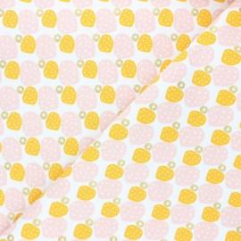 Tissu coton Cotton Steel Mountains, rocks, and pebbles - Sweet pebbles - jaune x 10cm