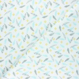 Tissu coton cretonne Ductus - bleu x 10cm