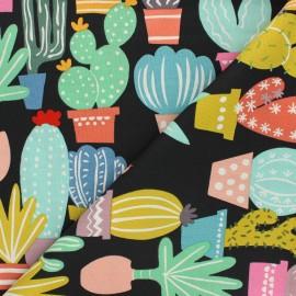 Alexander Henry cotton fabric - black Los cactos x 10 cm