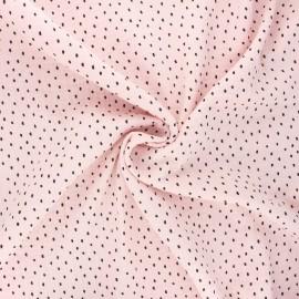 Tissu double gaze de coton Poppy Shapes B - baby rose x 10cm