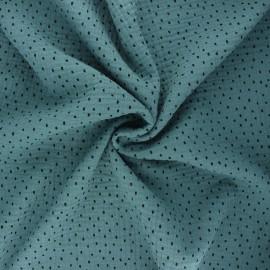 Tissu double gaze de coton Poppy Shapes B - eucalyptus x 10cm