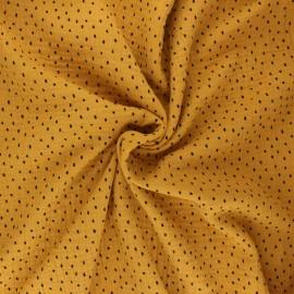 Tissu double gaze de coton Poppy Shapes B - jaune moutarde x 10cm