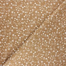 Tissu coton cretonne Gramina - muscade x 10cm