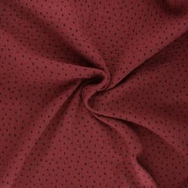 Tissu double gaze de coton Poppy Shapes B - terracotta x 10cm