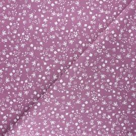 Tissu coton cretonne Gramina - violet x 10cm