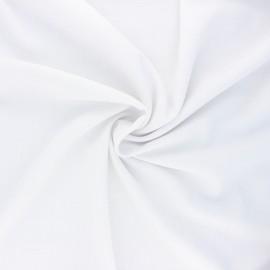 Plain linen and viscose fabric - white x 10 cm