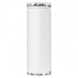 Bobine de fil élastique Mettler Seraflex 130m - N°2000 - blanc