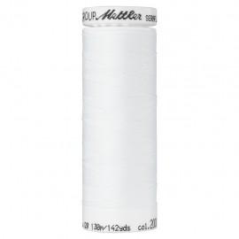 Elastic thread bobbin Mettler Seraflex 130m - N°2000 - white