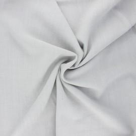 Plain linen and viscose fabric - light grey x 10 cm