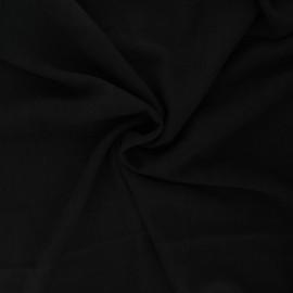 Plain linen and viscose fabric - black x 10 cm