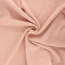 Plain linen and viscose fabric - blush x 10 cm