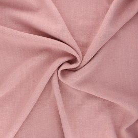 Plain linen and viscose fabric - water pink x 10 cm