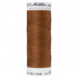 Bobine de fil élastique Mettler Seraflex 130m - N°899 - marron cannelle