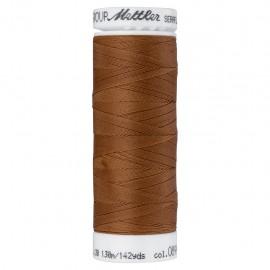 Elastic thread bobbin Mettler Seraflex 130m - N°899 - cinnamon brown