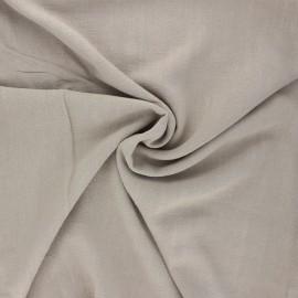 Plain linen and viscose fabric - grege x 10 cm