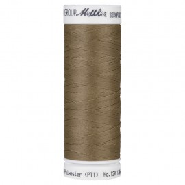 Elastic thread bobbin Mettler Seraflex 130m - N°387 - chestnut brown