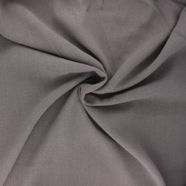 Plain linen and viscose fabric - taupe x 10 cm