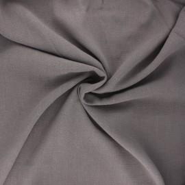 Tissu lin viscose uni - taupe x 10 cm
