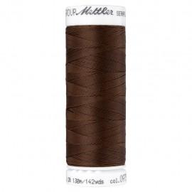 Elastic thread bobbin Mettler Seraflex 130m - N°975 - brown