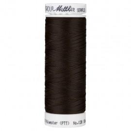 Elastic thread bobbin Mettler Seraflex 130m - N°428 - chocolate brown