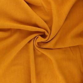 Plain linen and viscose fabric - honey x 10 cm
