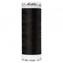 Elastic thread bobbin Mettler Seraflex 130m - N°1002 - coffee brown