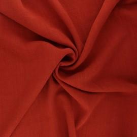 Plain linen and viscose fabric - rust x 10 cm