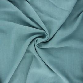 Plain linen and viscose fabric - sarcelle x 10 cm