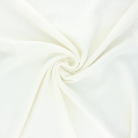Plain linen and viscose fabric - off-white x 10 cm