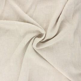 Plain linen and viscose fabric - beige x 10 cm