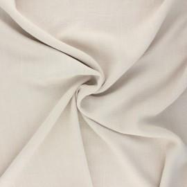 Plain linen and viscose fabric - raw x 10 cm