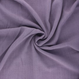 Plain linen and viscose fabric - parma x 10 cm