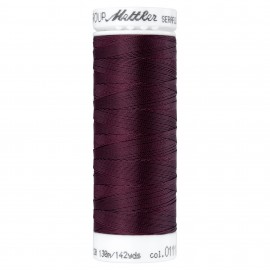 Bobine de fil élastique Mettler Seraflex 130m - N°111 - violet betterave