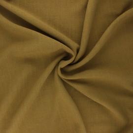 Plain linen and viscose fabric - moss green x 10 cm