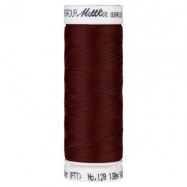 Bobine de fil élastique Mettler Seraflex 130m - N°128 - rouge acajou