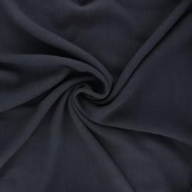 Plain linen and viscose fabric - dark green x 10 cm