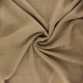 Plain linen and viscose fabric - nutmeg x 10 cm