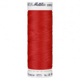 Bobine de fil élastique Mettler Seraflex 130m - N°104 - rouge corail