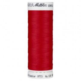 Bobine de fil élastique Mettler Seraflex 130m - N°503 - rouge grenadine