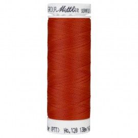 Elastic thread bobbin Mettler Seraflex 130m - N°1336 - vermillon red