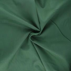 Tissu voile de coton - vert foncé x 10cm