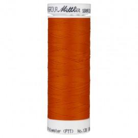 Elastic thread bobbin Mettler Seraflex 130m - N°450 - paprika orange