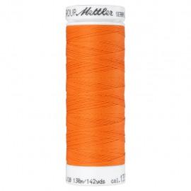 Elastic thread bobbin Mettler Seraflex 130m - N°1335 - tangerine