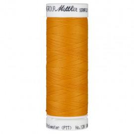Elastic thread bobbin Mettler Seraflex 130m - N°122 - pumpkin