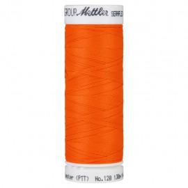 Elastic thread bobbin Mettler Seraflex 130m - N°1428 - neon orange