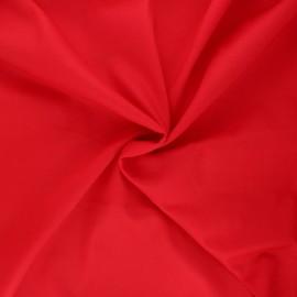 Tissu voile de coton - rouge passion x 10cm