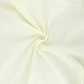 Tissu voile de coton - ivoire x 10cm